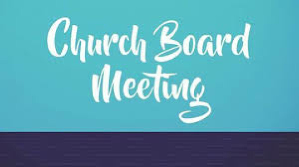 Church Board Meeting